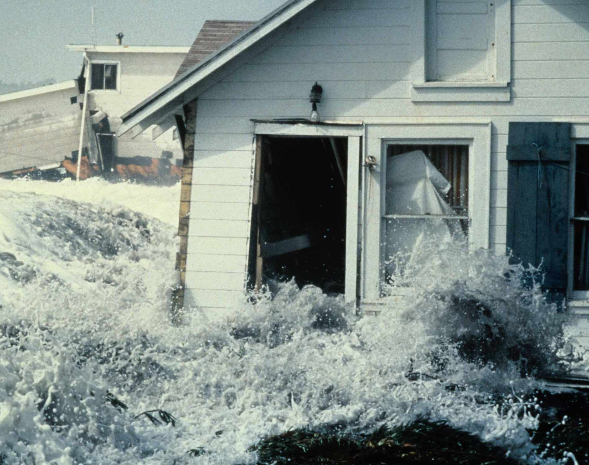 House hit by wave